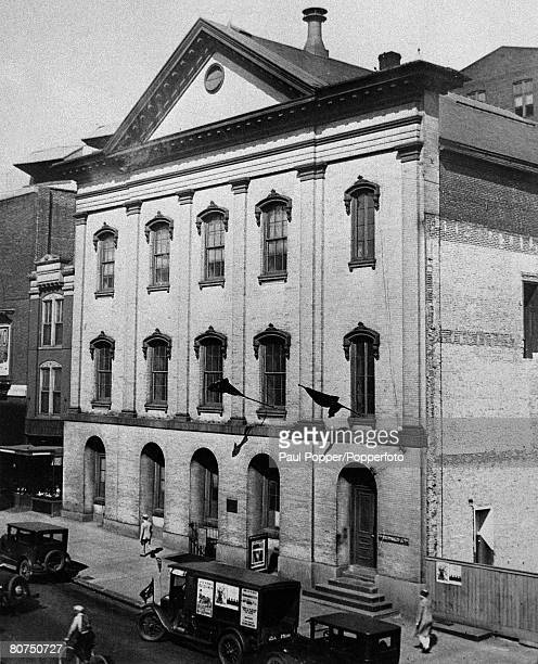 circa 1920 Ford's Theatre in Washington where John Wilkes Booth assasinated President Abraham Lincoln on 14th April 1865 with a shot to the head...