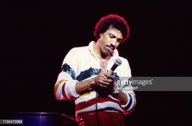 American Pop and R&B musician Lionel Richie performs onstage at Radio City Music Hall, New York, New York, October 11, 1983.