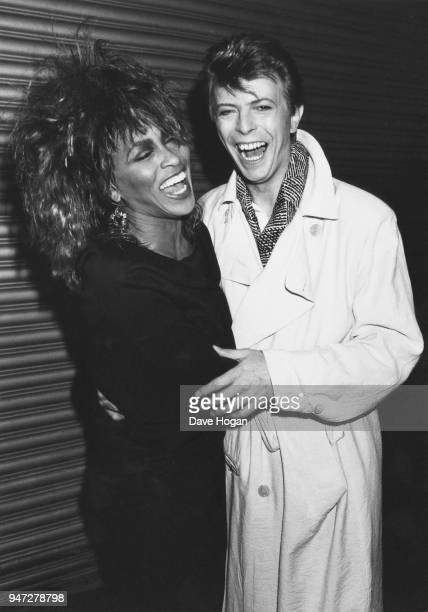 American pop and soul singer Tina Turner with English singersongwriter David Bowie 1985