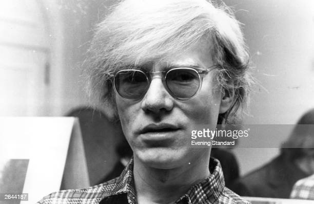 American pop artist and film maker Andy Warhol