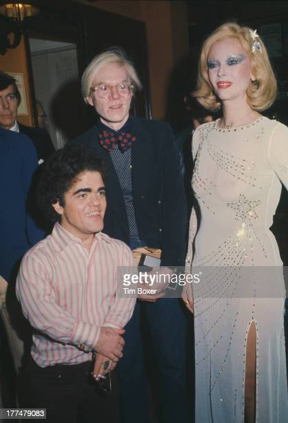 American pop artist Andy Warhol at a 'Man In The Moon' party at Sardi's restaurant in New York City 29th January 1975
