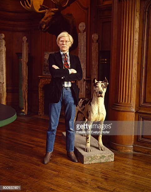 American pop artist Andy Warhol New York 1980