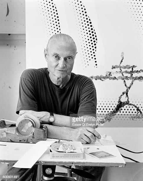 American pop artist Roy Lichtenstein New York 1996