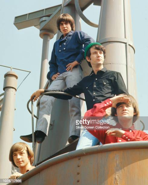 American pop band The Monkees stars of the television series 'The Monkees' circa 1967 From left to right they are Peter Tork Davy Jones Mike Nesmith...