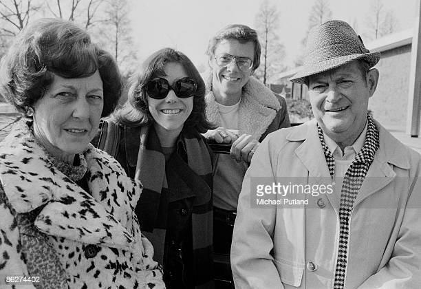 American pop duo Richard and Karen Carpenter with their parents in Amsterdam 1974