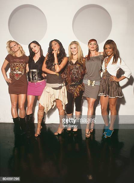 American pop girl group The Pussycat Dolls circa 2003 From left to right they are Kimberly Wyatt J Sutta Nicole Scherzinger Ashley Roberts Carmit...