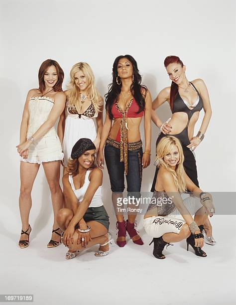 American pop girl group The Pussycat Dolls circa 2003 They are Kimberly Wyatt J Sutta Nicole Scherzinger Ashley Roberts Carmit Bachar and Melody...