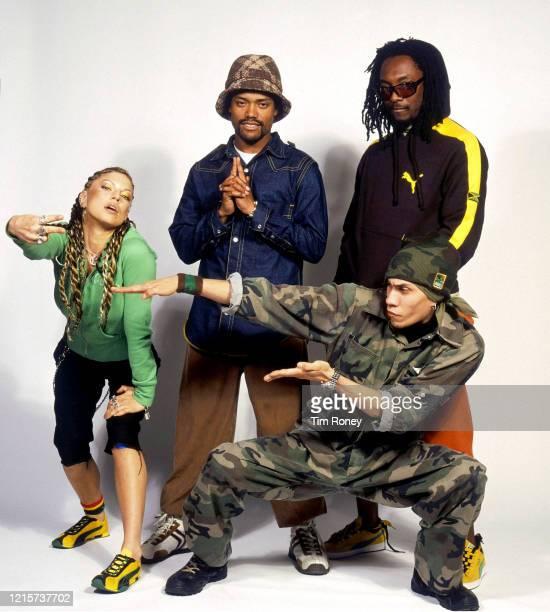 American pop group Black Eyed Peas 2003 they are Jamie Gomez 'Taboo' William Adams 'Will I Am' Allan Pienda 'Apl De Apl' Sacey Ferguson 'Fergie'