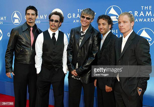 American pop group N Sync arrive at the 44th Grammy Awards 2002 on February 27 2002 in Los Angeles United States