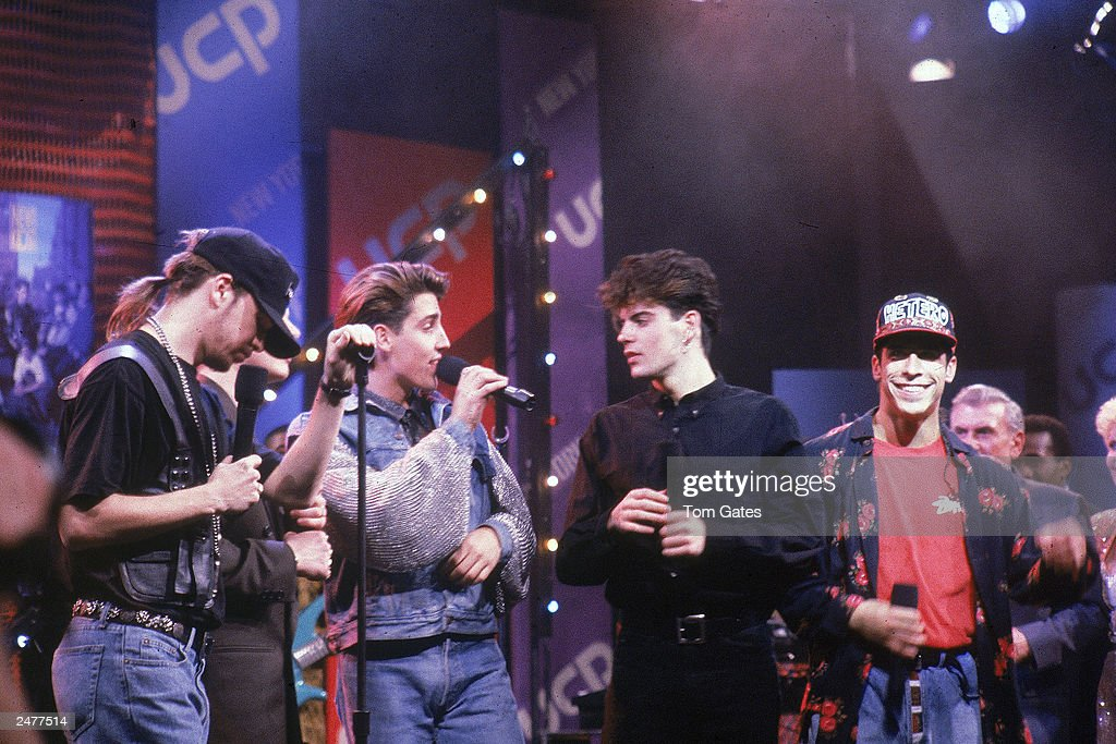 New Kids On The Block Perform On TV Show : News Photo