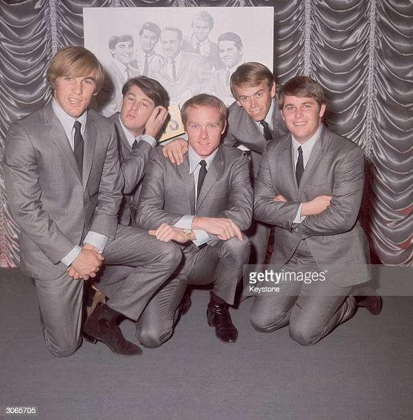 American pop group The Beach Boys on November 2 1964 in London England From left to right Carl Wilson Brian Wilson Mike Love Al Jardine and Dennis...