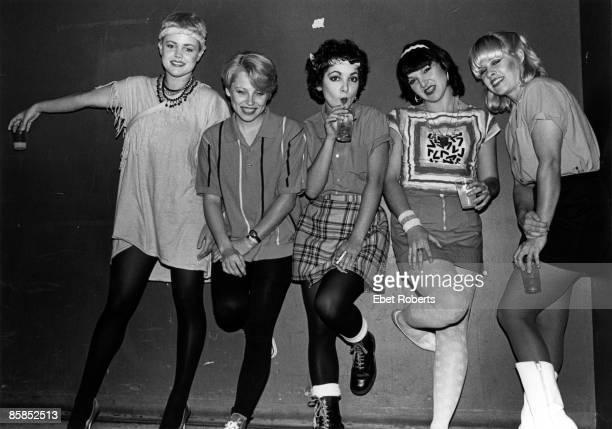American pop group The GoGo's USA circa 1980 Left to right singer Belinda Carlisle drummer Gina Schock rhythm guitarist Jane Wiedlin bassist Margot...