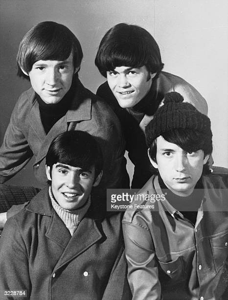 American pop group The Monkees Michael Nesmith Micky Dolenz Davy Jones and Peter Tork