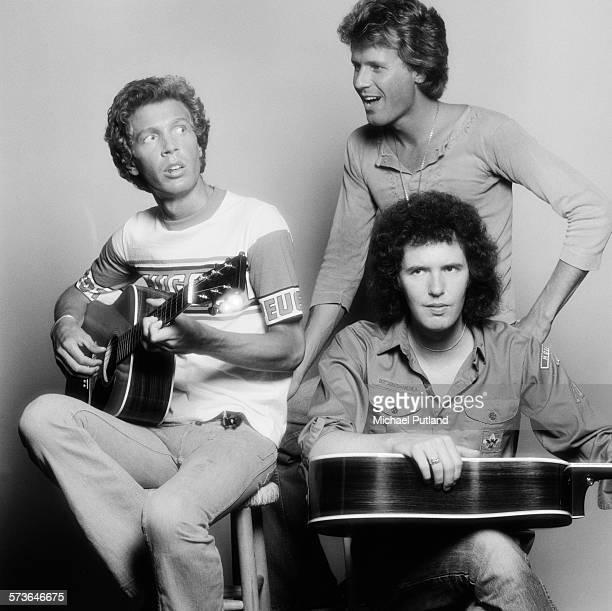 American pop group The Walker Brothers London 20th July 1976 Clockwise from left bassist Scott Walker guitarist John Walker and drummer Gary Walker