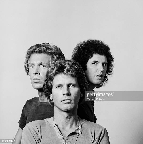 American pop group The Walker Brothers London 20th July 1976 Left to right bassist Scott Walker guitarist John Walker and drummer Gary Walker
