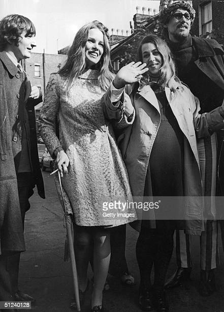 American pop music group The Mamas and the Papas including John Phillips his wife Michelle Phillips Mama Cass Elliot and Canadianborn Denny Doherty...