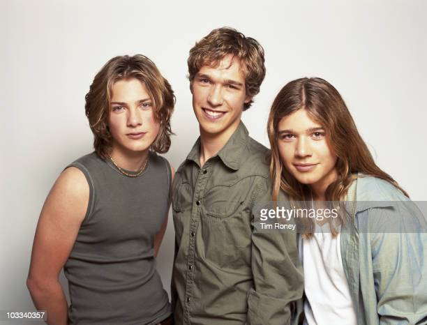 American pop rock band Hanson circa 2000 They are brothers Isaac Taylor and Zac Hanson