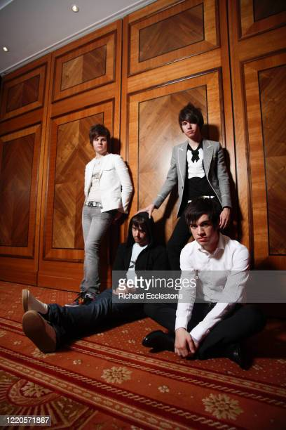 American pop rock band Panic! at the Disco, United Kingdom, 2006. Line up includes Brendon Urie, Ryan Ross, Spencer Smith and Jon Walker.