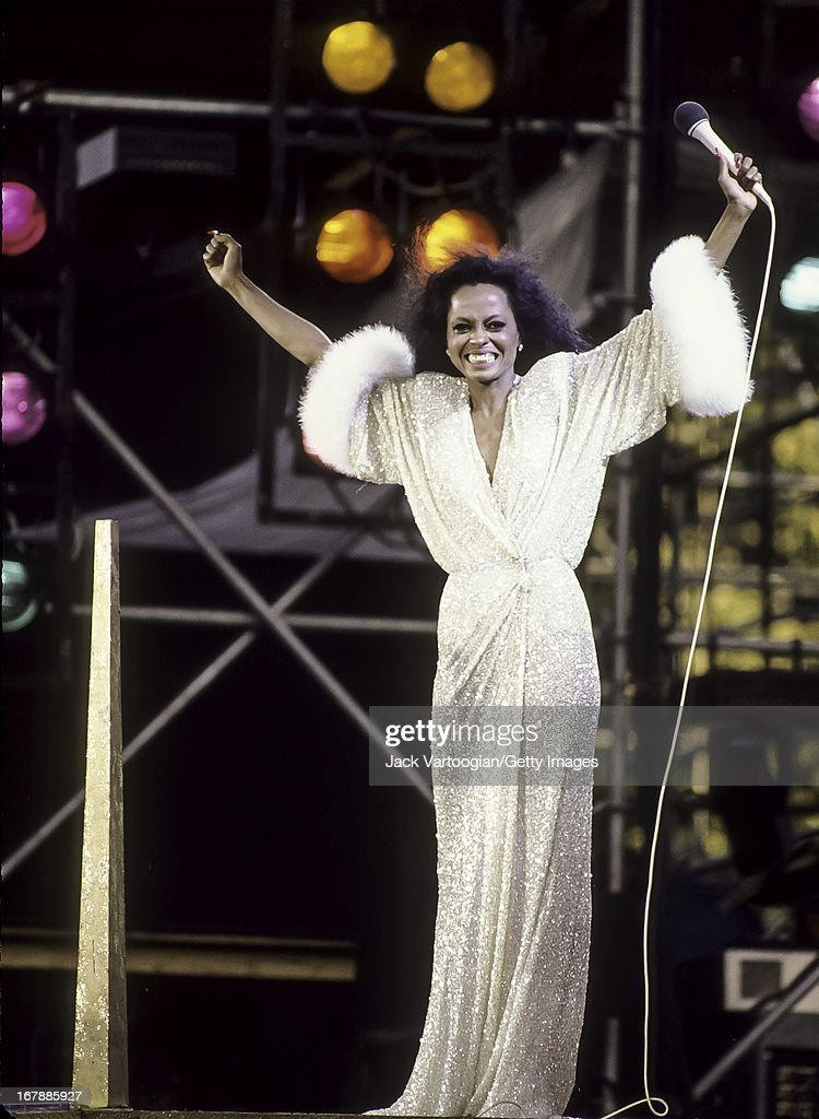 Diana Ross In Central Park : Foto jornalística
