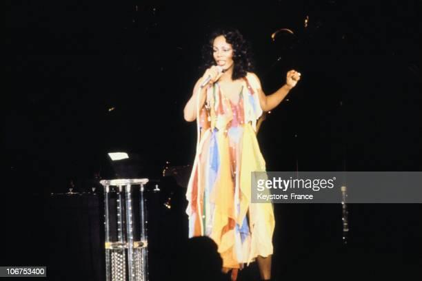 American Pop Singer Donna Summer During A Concert