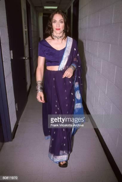 American pop singer Madonna backstage at the VH1 Fashion Awards New York New York October 23 1998