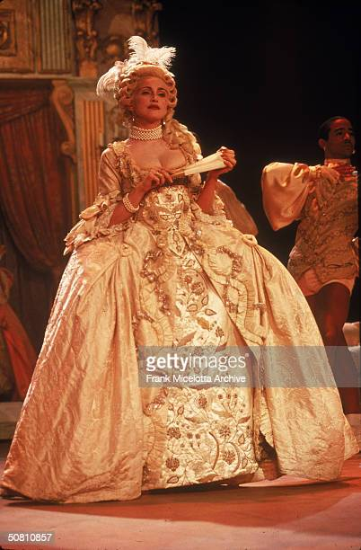 American pop singer Madonna performs her single 'Vogue' on the '1990 MTV Video Music Awards' show New York New York September 6 1990