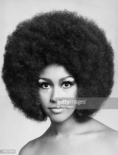 American pop singer Marsha Hunt with an afro hairstyle January 1969