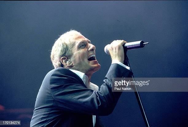 American pop singer Michael Bolton performs on stage Chicago Illinois June 27 1998