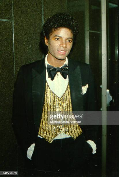American pop singer Michael Jackson at Nassau Veterans Memorial Coliseum New York where he performed at the UNICEF Charity concert 'Because We Care'...