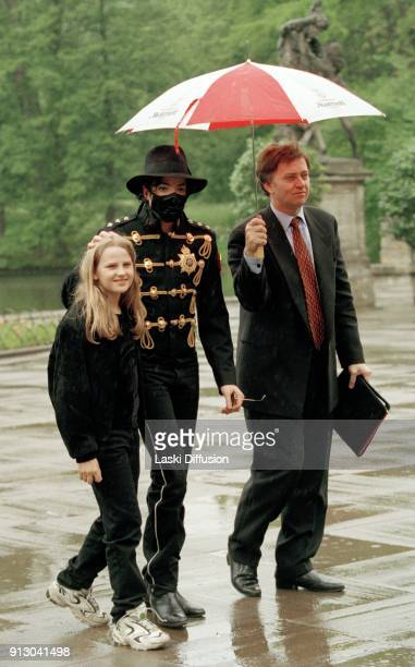 American pop singer Michael Jackson with Marielle Tourelle in Royal Lazienki Park in Warsaw Poland on September 20th 1996