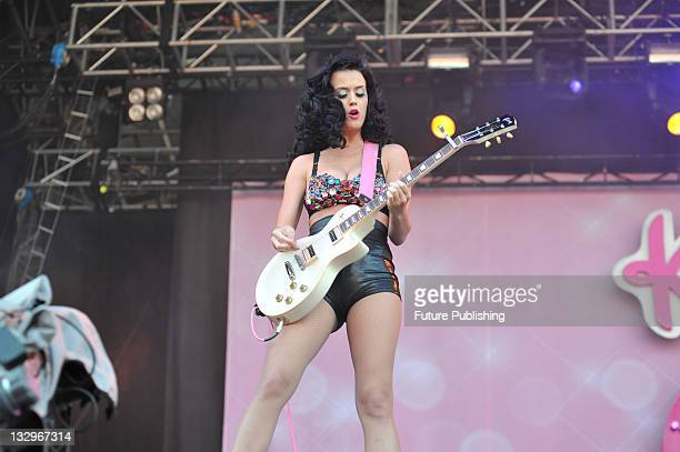 American pop singersongwriter Katy Perry live on stage at V Festival August 23 Hylands Park