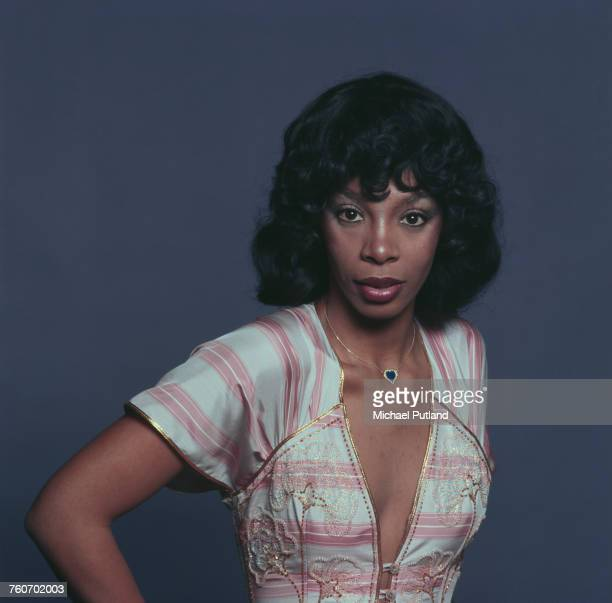 American pop soul and disco singer and songwriter Donna Summer posed in London 29th April 1976