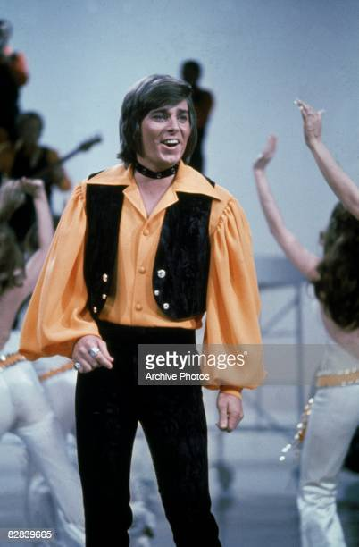 American pop star and teen idol Bobby Sherman performing 1970s