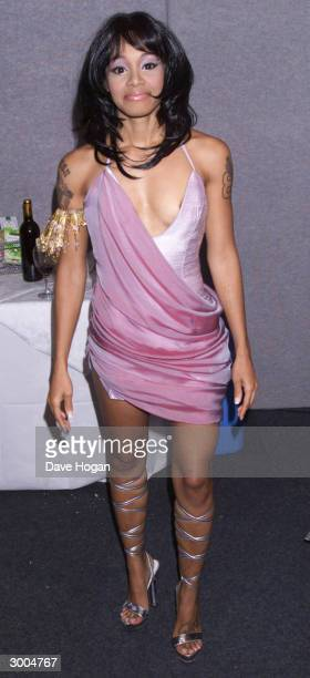 American pop star Lisa LeftEye Lopez attends the MOBO Awards held at Alexandra Palace on April 19 2000 in London
