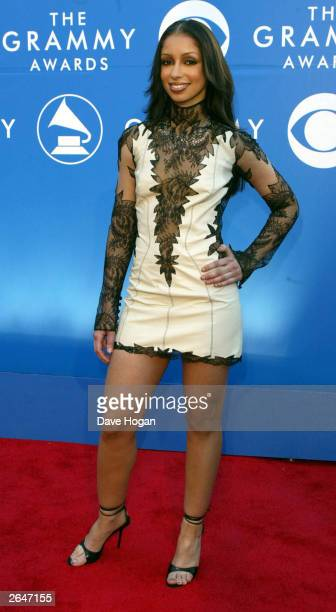 American pop star 'Mya' arrives at the 44th Grammy Awards 2002 on February 27 2002 in Los Angeles United States