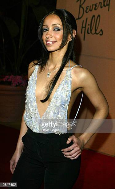 American pop star 'Mya' attends the Clive Davis pre Grammy party at the Beverly Hilton on February 26 2002 in Los Angeles United States