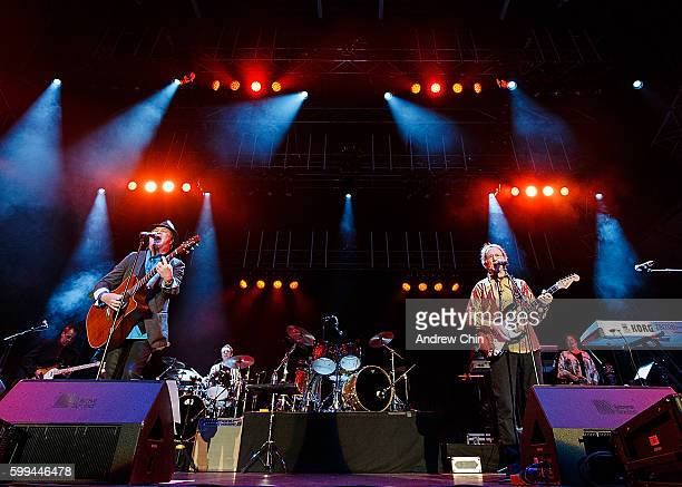American poprock band The Monkees performs onstage during PNE Summer Night Concert Series at PNE Amphitheatre on September 4 2016 in Vancouver Canada