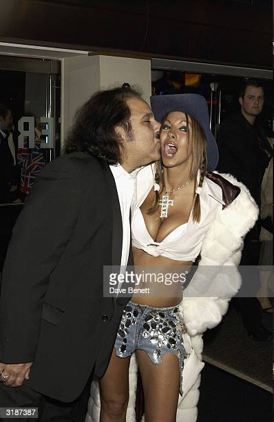 American porn star Ron Jeremy and British model Jodie Marsh arrives at the UK premiere of the film 'Gumball 3000' held at the Odeon Cinema Leicester...