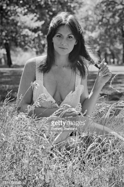 American pornographic actress Linda Lovelace , UK, 8th June 1974.