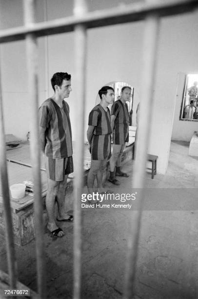 American POW soldiers inside their jail cell at the Hanoi Hilton prior to their release March 29 1973 in Hanoi Vietnam