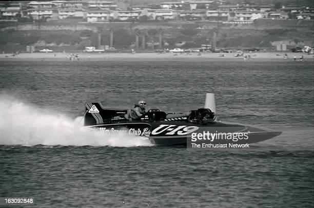 American Power Boat Association APBA San Diego Cup Hydroplane Race Mission Bay California Wayfarer's Club Lady Unlimited Hydroplane U19 speeding...