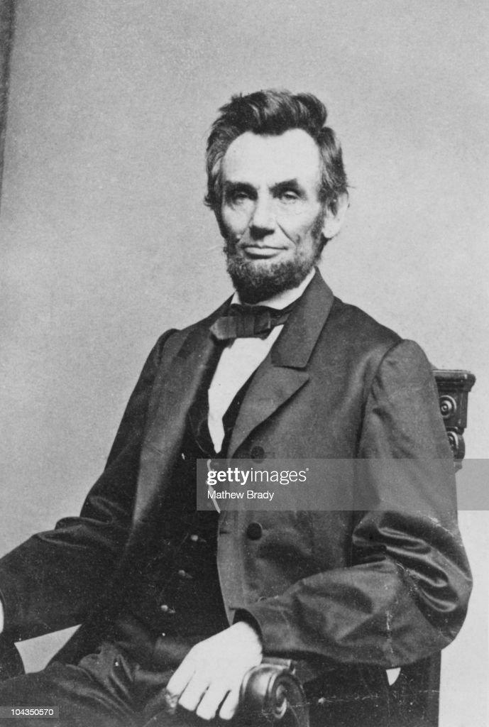 American President Abraham Lincoln (1809 - 1865), circa 8th January 1864.