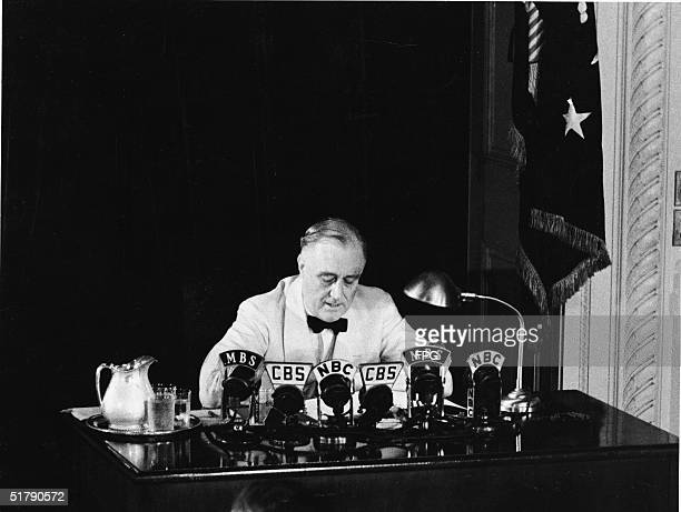 American President Franklin Delano Roosevelt declares an 'unlimited' national state of emergency over the radio in response to German aggression...