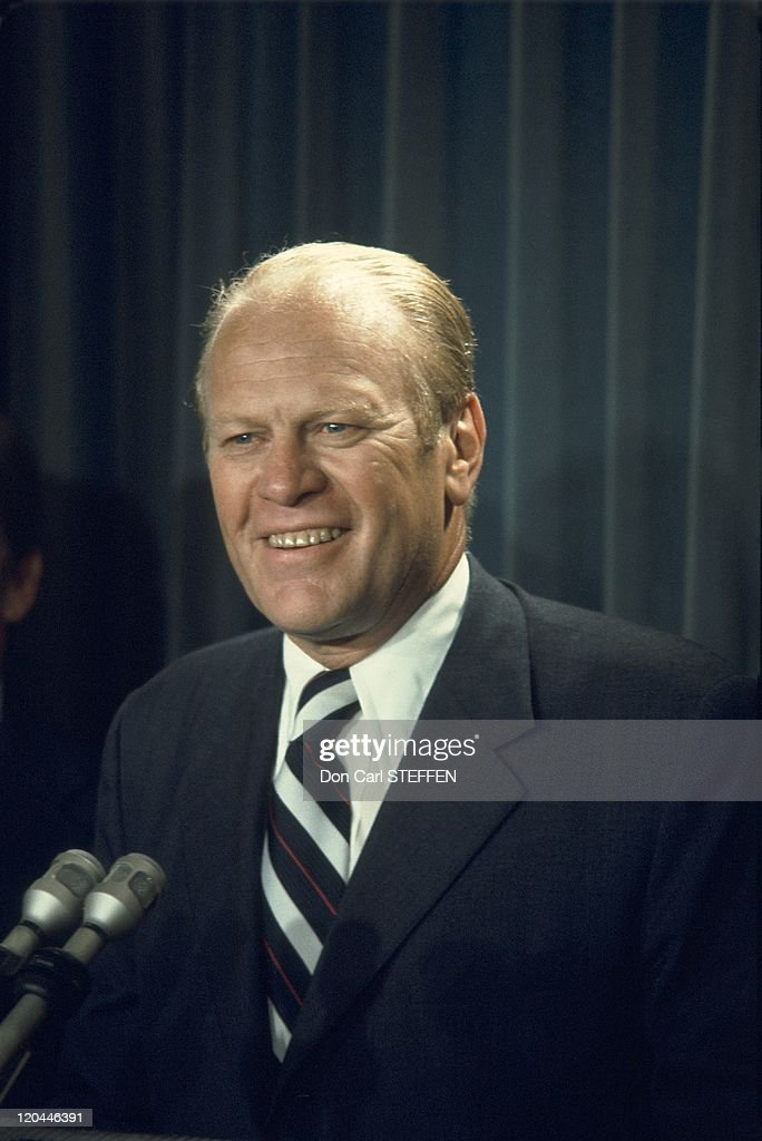 American President Gerald R.Ford In United States In Around 1974 - : News Photo