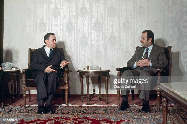 American President Richard Nixon makes an official visit to Damascus where he is welcomed by President of Syria Hafez elAssad
