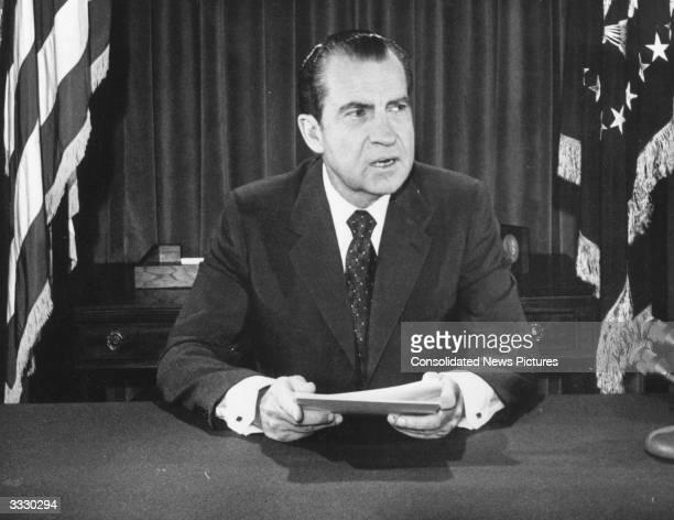 American President Richard Nixon.