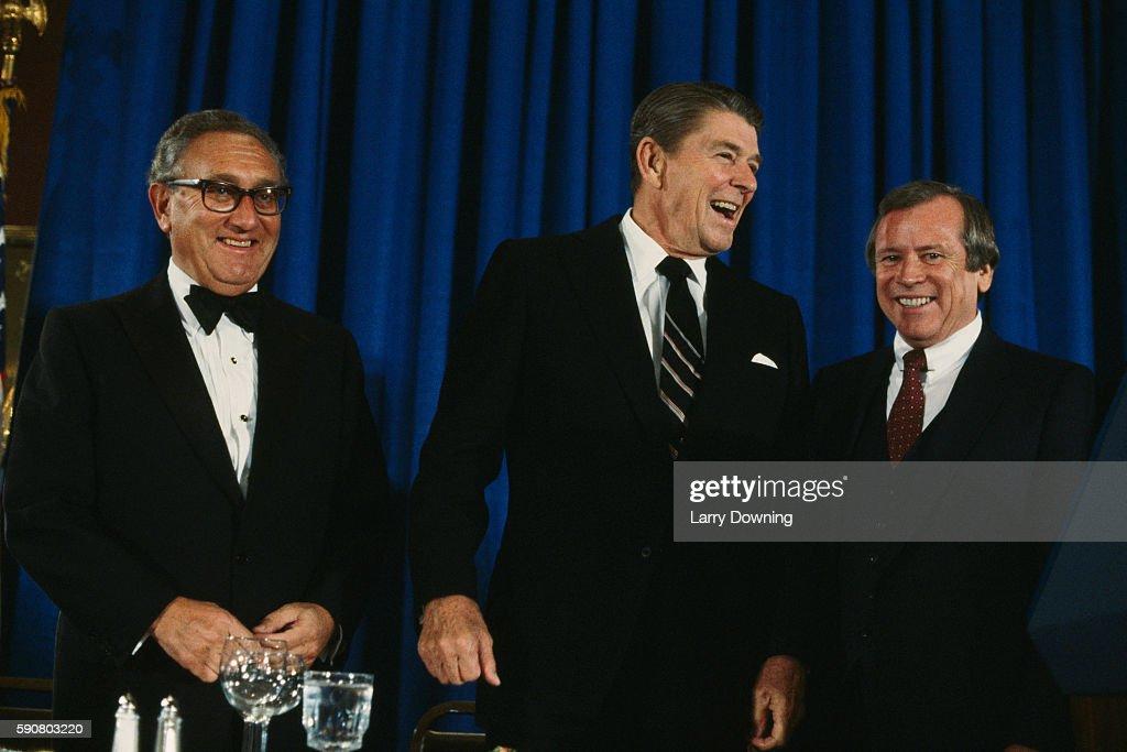 American President Ronald Reagan, Henry Kissinger and Howard Baker... News  Photo - Getty Images