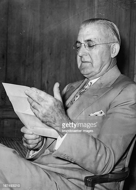American presidential candidate Frank Ernest Gannett at the Savoy Hotel in London Photograph 1936th Der amerikanische Präsidentschaftskandidat Frank...