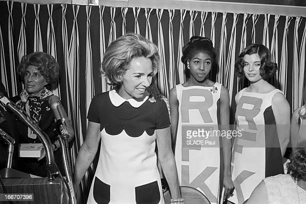 American Presidential Election 1968 Rfk Fashion EtatsUnis 17 mai 1968 Lors de l'élection présidentielle américaine Ethel KENNEDY épouse de Robert...