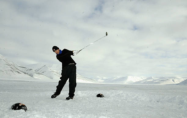 drambuie world ice golf championships photos and images getty images